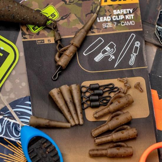 Fox Edges Camo Safety Lead Clip Kit 7 Комплект Клипсове