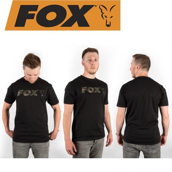 Fox Edges Black Camo Chest Print T-Shirt Тениска