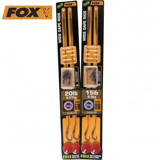 Вързани куки Fox Edges Ready Rigs - Wide Gape