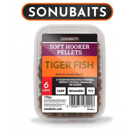 SonuBaits Soft Hooker Pellets - Tiger Fish Меки Пелети