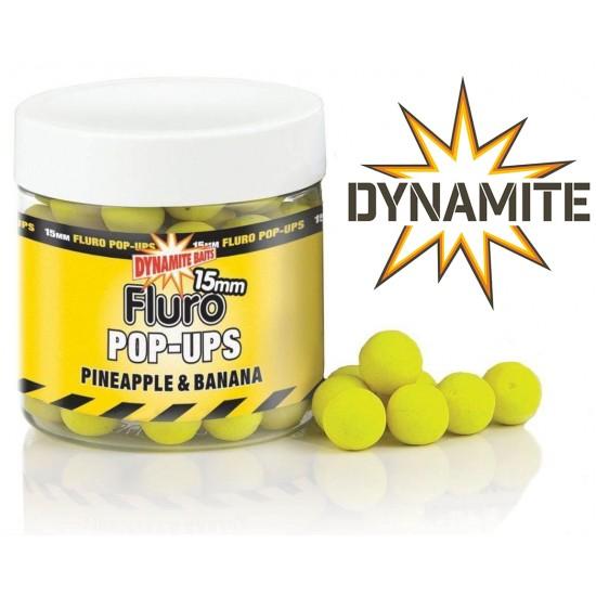 Dynamite Baits Pineapple Banana Fluro Pop-Up 15mm Плуващи топчета