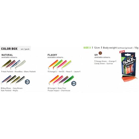 Fiiish Black Minnow No3 Color Box - 12 cm Силиконови примамки